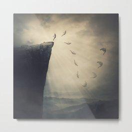 unfold your wings in flight Metal Print