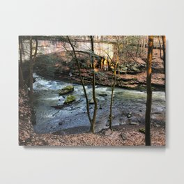 Stream and bridge Metal Print