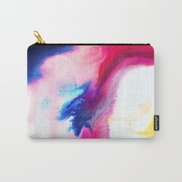 Happiness Talks Abstract Watercolor Painting Carry-All Pouch