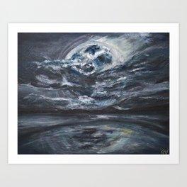 blame it on the full moon Art Print