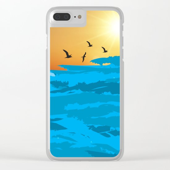 sea wave Clear iPhone Case