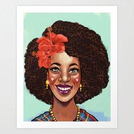 Love your Curls Art Print