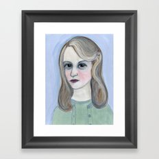 Colossus of Plath, Sylvia Plath Literary Portrait Framed Art Print