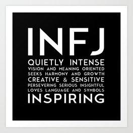 INFJ (black version) Art Print