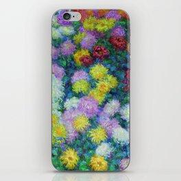 "Claude Monet ""Chrysanthemums"", 1897 iPhone Skin"