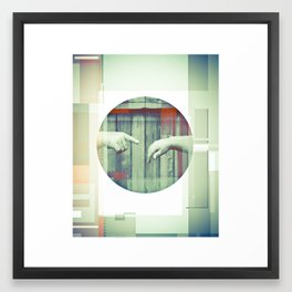 Two Points Framed Art Print