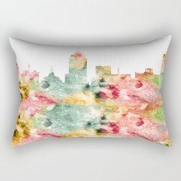 Fresno City Skyline California Rectangular Pillow