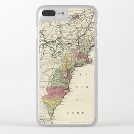 Colonial America Map by Matthaus Lotter (1776) Clear iPhone Case