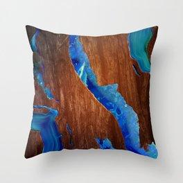 Agate River Throw Pillow