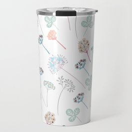 Beautfiul floral vector pattern with rustic flowers Travel Mug