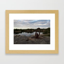 Rusty Link Framed Art Print