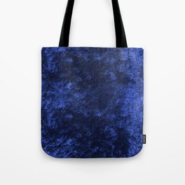 Royal blue navy velvet Tote Bag