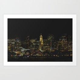 boston WATERFRONT Art Print