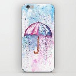 Umbrella Watercolor Painting iPhone Skin