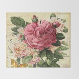 Vintage flowers #28 Throw Blanket