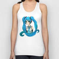 vocaloid Tank Tops featuring Hatsune Miku by Tiffany Willis