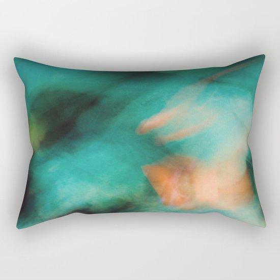 Green and Orange  Rectangular Pillow