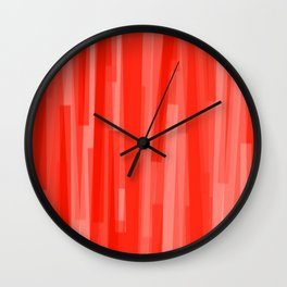 Geometric Red White Painting Wall Clock