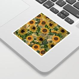 Vintage & Shabby Chic - Sunflowers Flower Garden Sticker