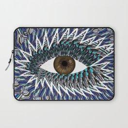 Origami Chakra Eye - Chocolate Brown Black Laptop Sleeve