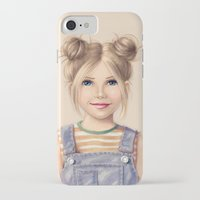 90s iPhone & iPod Cases featuring 90s Chick by kristen keller reeves