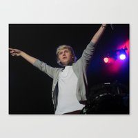 niall horan Canvas Prints featuring Niall Horan by lackofabettername123