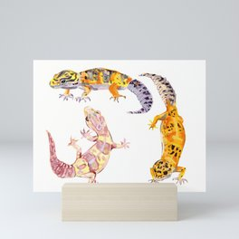 Leopard Geckos Mini Art Print