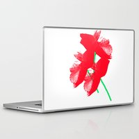 poppies Laptop & iPad Skins featuring Poppies by Vitta