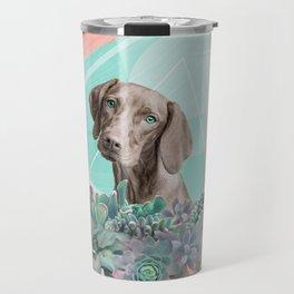 Eclectic Geometric Redbone Coonhound Dog Travel Mug