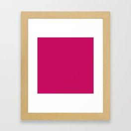 PINK PEACOCK - PANTONE NEW YORK FASHION WEEK 2018 SPRING 2019 SUMMER Framed Art Print