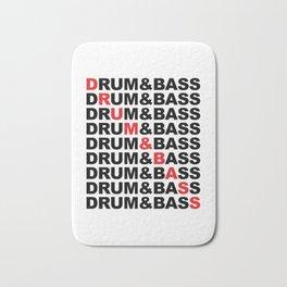 Drum & Bass List Rave Quote Bath Mat