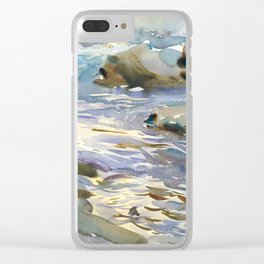 Stream and Rocks by John Singer Sargent, 1901 Clear iPhone Case