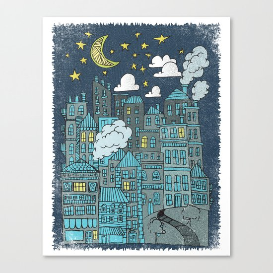 LULLABY TOWN Canvas Print