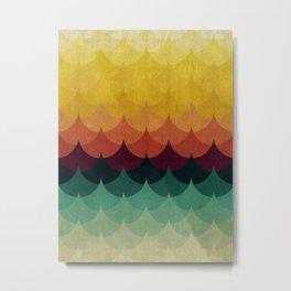 Gradient Waves Metal Print