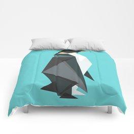 Fractal geometric emperor penguin Comforters