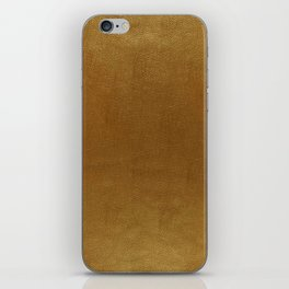 leather gold BEAUTY iPhone Skin