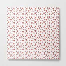 heart and red 4 -love,romantism,romantic,cute,beauty,tender,tenderness Metal Print