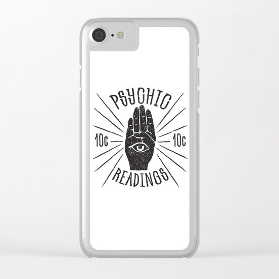 10¢ Psychic Clear iPhone Case