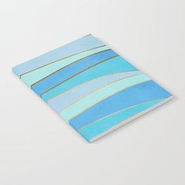 Waves Pattern - Golden Glitter Notebook