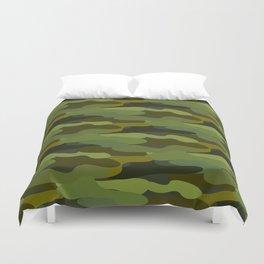 Khaki camouflage Duvet Cover