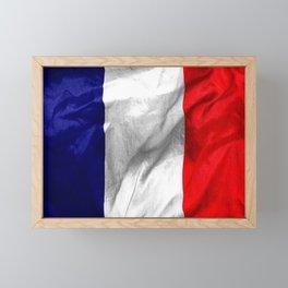 France Flag Framed Mini Art Print