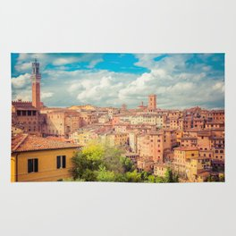 A View of Siena Italy Rug