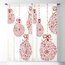 Christmas Baubles Made Of Snowflakes Blackout Curtain
