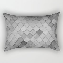 Fifty Gray Shades of Tiles (Black and White) Rectangular Pillow