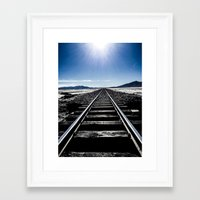trainspotting Framed Art Prints featuring Trainspotting by Jonathan Ramanujam