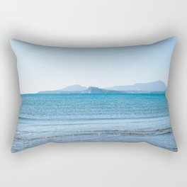 Blue sea in the Bay of Naples Rectangular Pillow