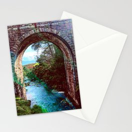 Bridge with Light leaks Stationery Cards