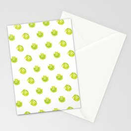 Lime Green Polka Dots Stationery Cards
