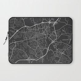 Athens Map, USA - Gray Laptop Sleeve