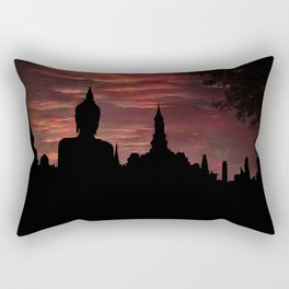 Buddha's Eagle Rectangular Pillow